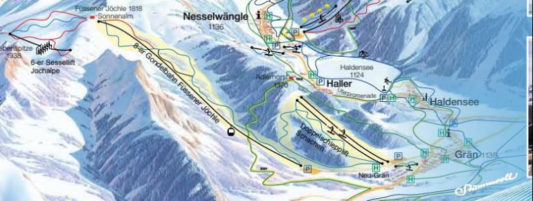 Pistenplan Grän - Füssener Jöchle