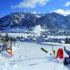 Nach dem Ski fahren kann gerodelt werden