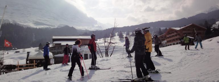Auf der Talabfahrt Nr. 21 zurück nach Grindelwald