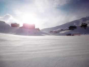 Blick zurück auf das Hotel Bellevue des Alpes an der Kleinen Scheidegg