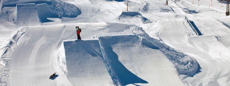Kicker Lines im Advanced Snowpark