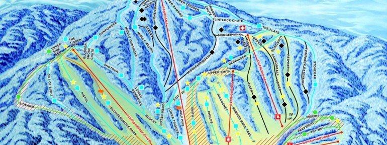 Pistenplan Gunstock Ski Area