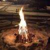 Unser schönes Lagerfeuer beim Flutlichtfahren