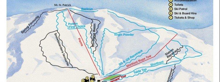 Pistenplan Skigebiet Hanmer Springs