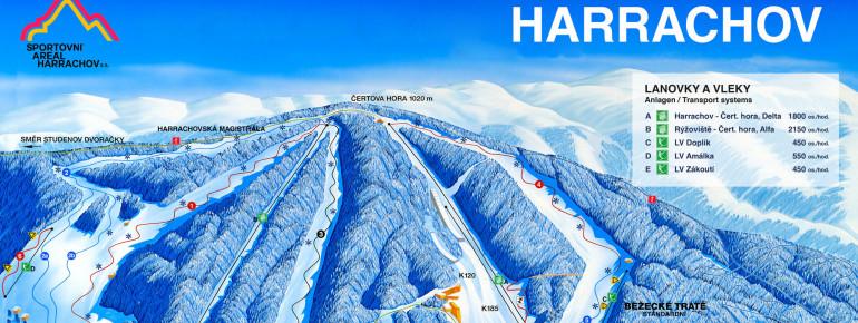 Pistenplan Harrachov – Certova hora (Teufelsberg)