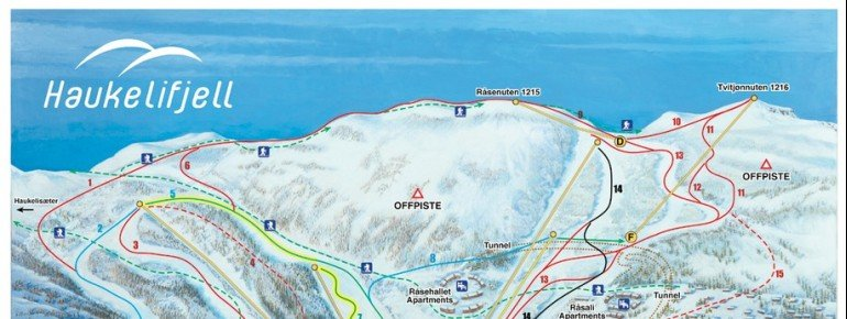 Pistenplan Haukelifjell