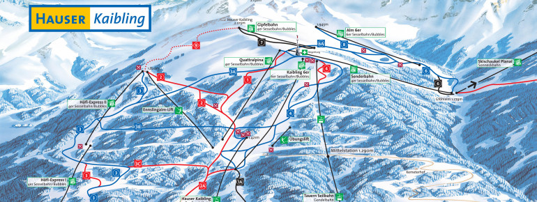 Pistenplan Hauser Kaibling (4-Berge-Skischaukel)