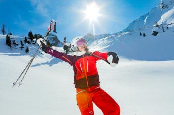 Die Freude über diesen wunderschönen Skitag ist groß.