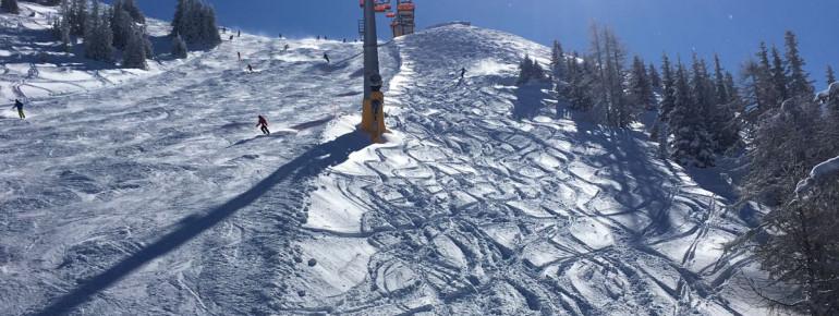 Mit der Gipfelbahn gehts zum höchsten Punkt der 4-Berge-Skischaukel.