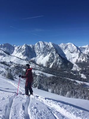 Große Freude über die Schneemassen