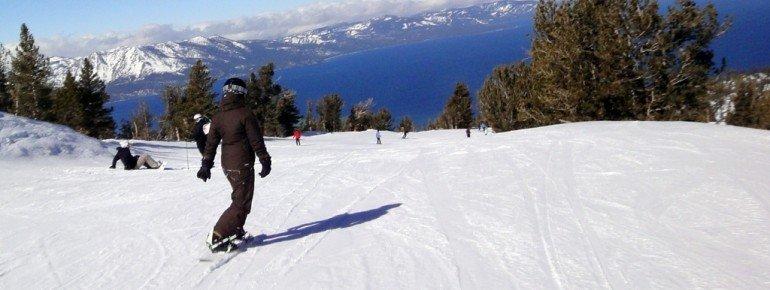 Fast alle Pisten bieten ein traumhaftes Panorama von Lake Tahoe.