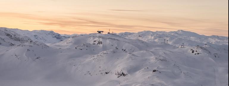 Das Skigebiet Hemsedal liegt in den skandinavischen Alpen.