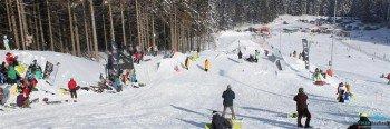 Die Skiarea teilt sich in Snow-, Lern- und Funpark auf