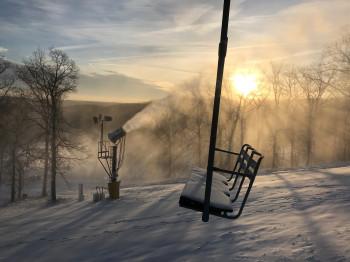 Schneekanonen sorgen für Schneesicherheit