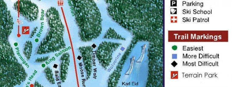Pistenplan Hilltop Ski Area