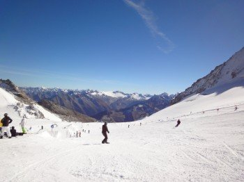 Der Hintertuxer Gletscher ist das einzige Ganzjahresskigebiet Österreichs