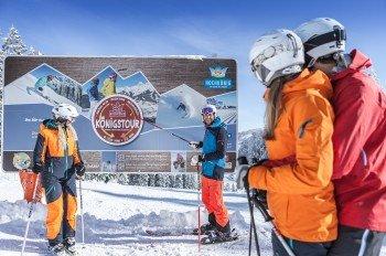 Die Königstour gehört zu den Highlights im Skigebiet.