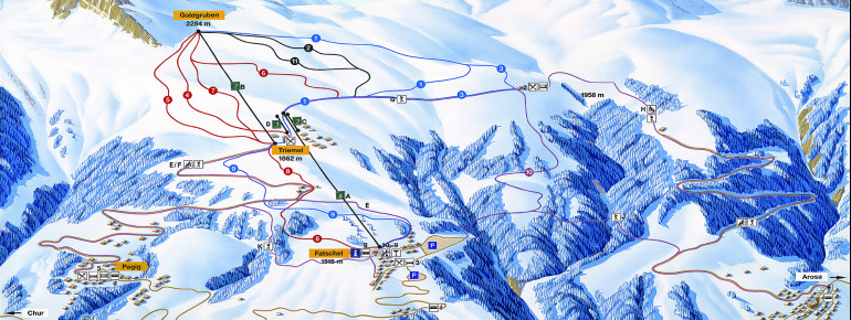 Pistenplan Skigebiet Hochwang