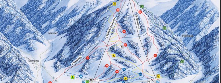 Pistenplan Hochwurzen (4-Berge-Skischaukel)