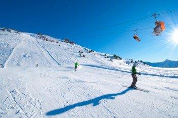 Traumhaftes Skiwetter, fast leere Abfahrten und gute Schneebedingungen - was will man mehr?