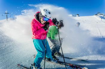 500 Schneekanonen sorgen dafür, dass alle Pisten beschneit werden können.
