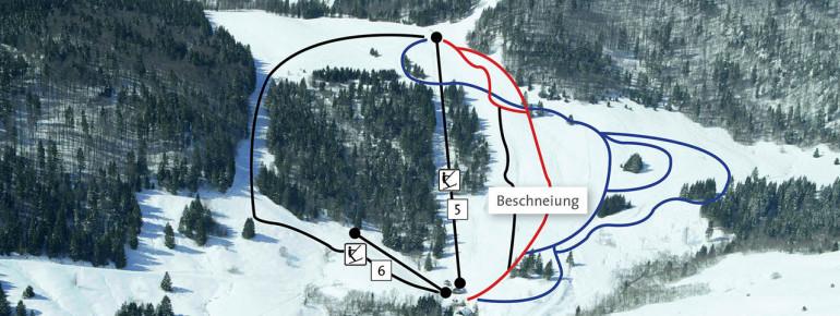 Pistenplan Hofeck