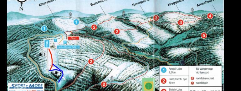 Pistenplan Hohe Bracht – Lennestadt