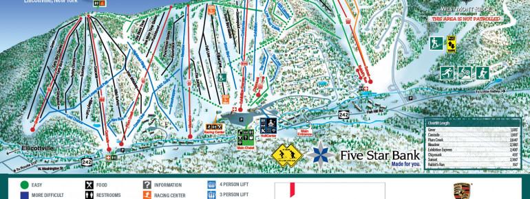 Pistenplan HoliMont Ski Area