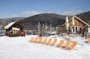 Wohlverdiente Pause in der Skibar