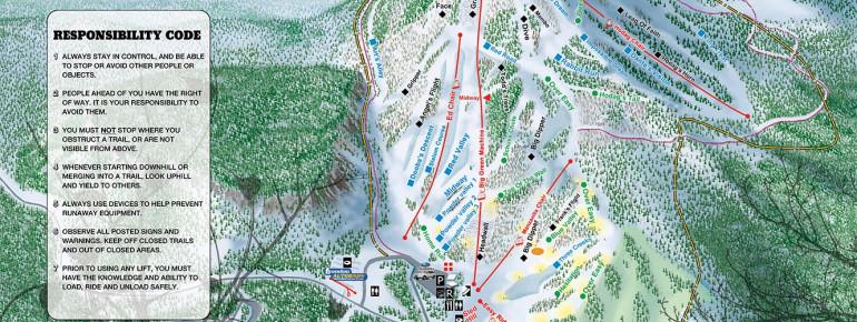 Pistenplan Hoodoo Ski Area
