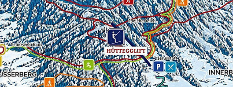 Pistenplan Hüttegglift Weerberg
