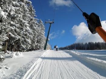 Einer der längsten Schlepplifte: Der Hüttegglift hat eine Länge von 1460 Metern.