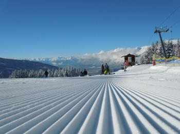 Blick von der Bergstation Hüttegglift Richtung Innsbruck