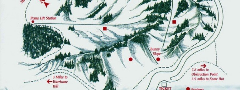 Pistenplan Hurricane Ridge Ski Area