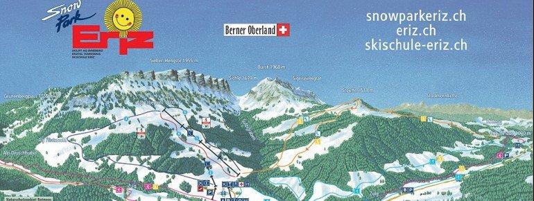 Pistenplan Snowpark Eriz
