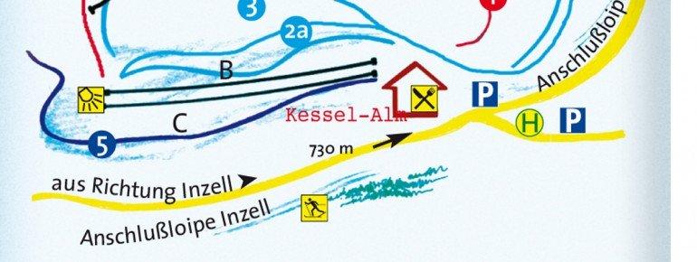 Pistenplan Kessel-Lifte Inzell