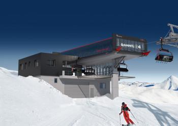 Skizze der neuen Bergstation Gampen E4
