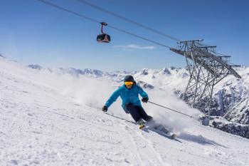 Fortgeschrittene Skifahrer finden in Ischgl eine große Vielfalt an Pisten