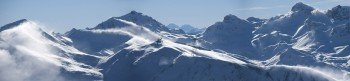 Blick auf den neuen Freeride Hotspot am Piz Val Gronda