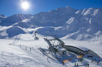 Einstieg in das neueste Freeride Gebiet in Ischgl: Talstation Piz Val Gronda