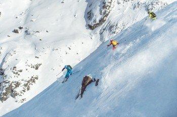 Freeride Abfahrt vom Palinkopf (2864m)