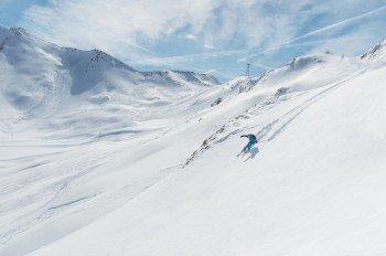 Freeride Abfahrt vom Piz Val Gronda
