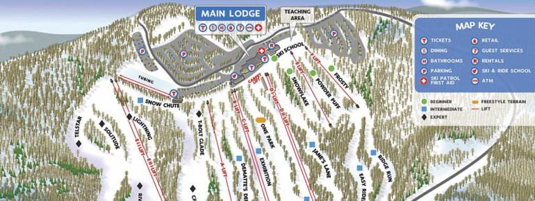Pistenplan Jack Frost Ski Area