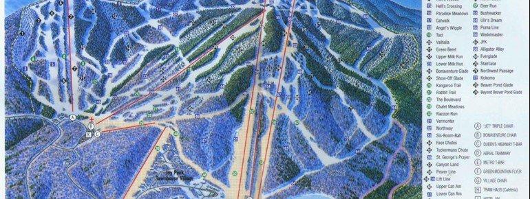 Pistenplan Jay Peak