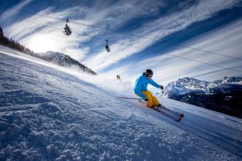 Im oberen Bereich des Skigebiets fühlen sich die fortgeschrittenen Skifahrer wohl.