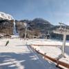 Auf der blauen Talabfahrt kommen selbst Anfänger mit den Skiern wieder ins Tal.