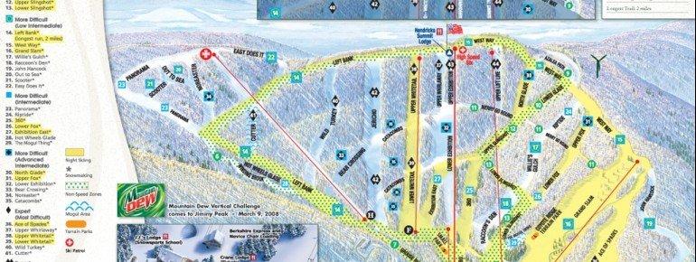 Pistenplan Jiminy Peak Resort