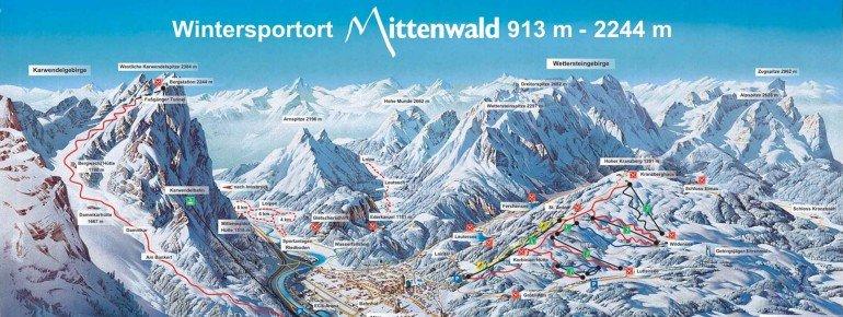 Pistenplan Karwendel Mittenwald