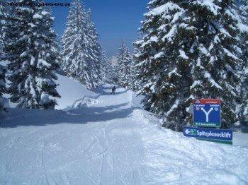 Gute Beschilderung des Skigebietes