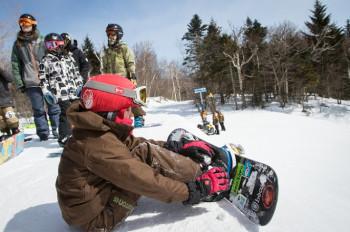 Perfektes Skigebiet für beides: Skifahrten und Snowboardsessions.
